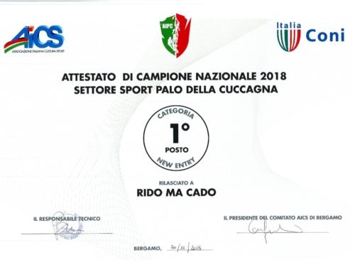 Rido Ma Cado Campionesse Nazionali 2018