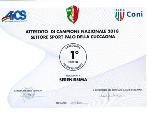 Serenissima Campioni Nazionali 2018
